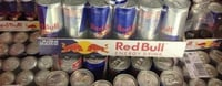 Canned Red Bull Energy Drinks
