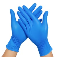 Blue Colored Nitrile Examination Gloves