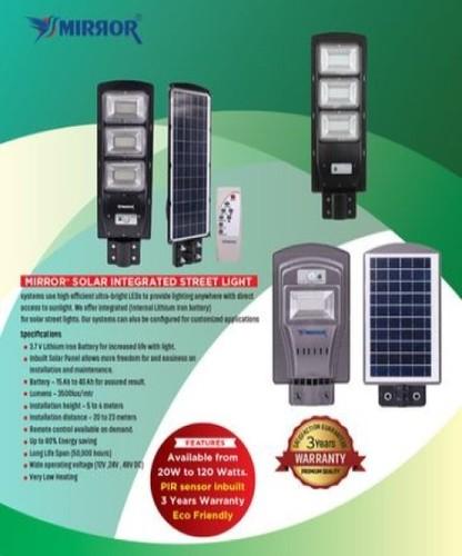 40W Mirror Brand Solar Integrated Street Lights
