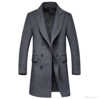 Mens Plain Woolen Overcoat