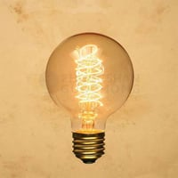 40 Watt Incandescent G80 Globe Vintage Edison Light Bulb