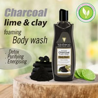 Volamena Charcoal Lime Clay Body Wash for Both Men and Women