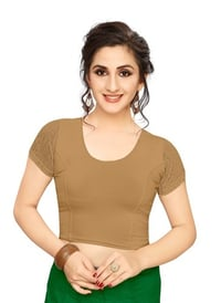 Jelite Premium Readymade Stretchable Ladies Liva Half Net Blouse