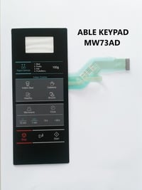 Able MW73AD Microwave Oven Membrane Keypad Black