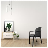 Plastic Chair with Cushion