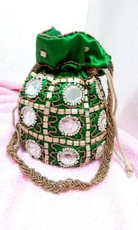 Golden And Multicolor Potli Bags