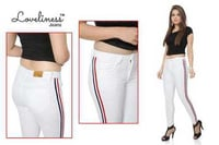 White Colored Ladies Jeans