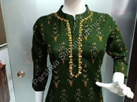 Green Color Straight Ladies Kurti