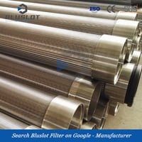 Wedge Wire Stainless Steel Screen Water Well Pipe