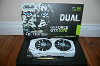 Sealed Box Nvidia GeForce GTX1070 Video Card (Asus)