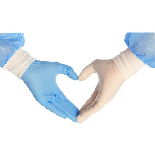 Blue Latex Hand Gloves