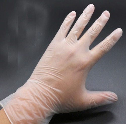 Disposable PVC Dotted Examination Powder Free Vinyl Gloves