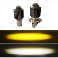 15W Yellow White Dual Color Motorcycle LED Light Lens Spotlight
