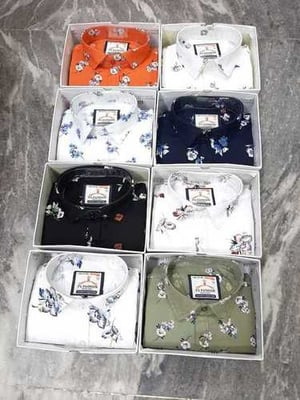 Pure Cotton Shirts With Box