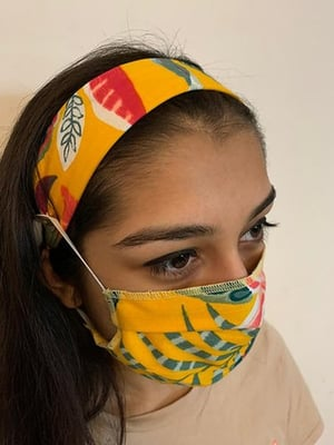 Womens Hairband And Mask Combo