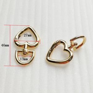 OD 46mm New Style Products Heart Shape Spring Hook Buckle for Bag Accessories/Chains Accessories HD506-20