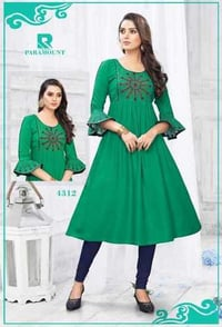 Ladies Umbrella Cut Kurtis And Tops