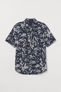 Male Linen Printed Shirt