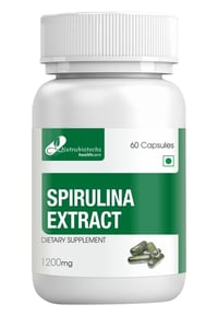 Spirulina High Protein Supplements 60 Capsules