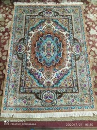 5x7 Hand Knotted Silk Carpet