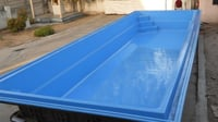 Blue Color FRP Swimming Pool
