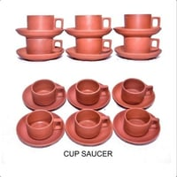 Terracotta Clay Cup Saucer