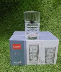 Crystal White Water Drinking Glass