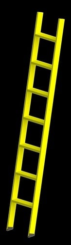 Wall Support FRP Step Ladder