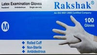 Disposable Rolled Cuff Latex Examination Gloves