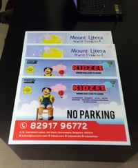 Sunpack No Parking Boards Printing Services