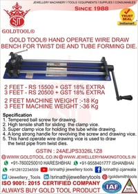 Gold Tool Hand Operate Wire Draw Bench for Twist Die and Tube Forming Die
