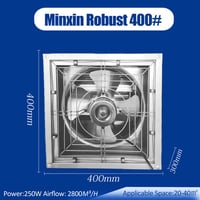 400 mm 16 Inch 1500 CFM Natural Ventilation Small Exhaust Fan