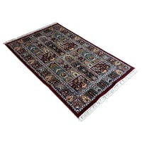 Multi-Color Hand Knotted Traditional Carpet