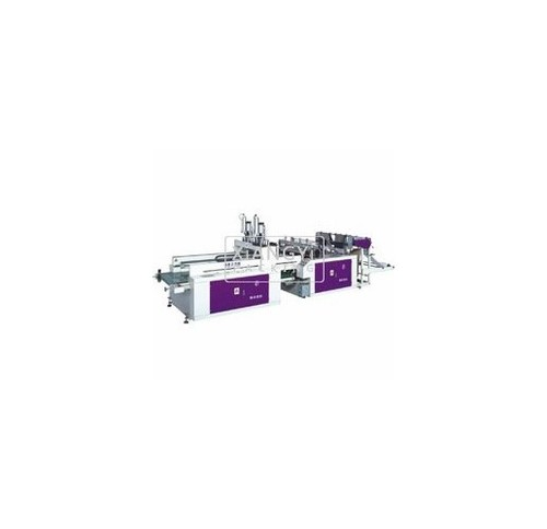 High Speed Double Channel Heat Sealing and Cutting Production Line Bag Making Machine
