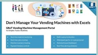 Vending Machine Management Solution Services