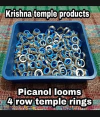 4 Row Temple Rings With 2mm Big Spikes