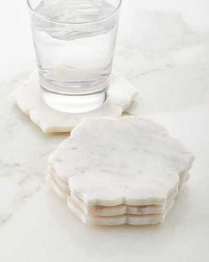 Handcrafted White Marble Coaster