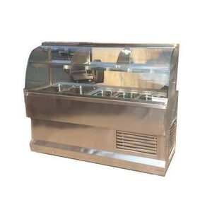 Curved Glass SS Chaat Display Counter