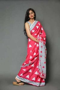 Ladies Pom Pom Saree