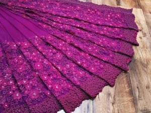 Net With Heavy Embroidery Saree