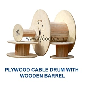 Plywood Cable Drums and Reels With Wooden Barrel