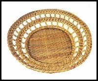 Strong and Durable Cane Round Basket