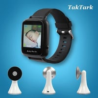 Wireless Video Watch Style Baby Monitor Portable Shock Vibration Baby Nanny Cry