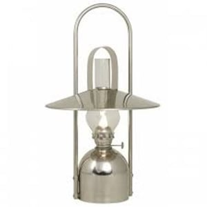 Polished Steel Oil Lamps
