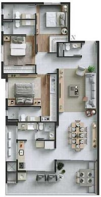 2D Architecture Plan For Residential and Commercial