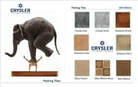 Crysler Parking Tiles With Square Shape