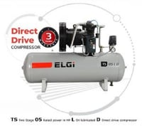 Two Stage 05 Rated in HP oil Lubricated Direct Drive Compressor