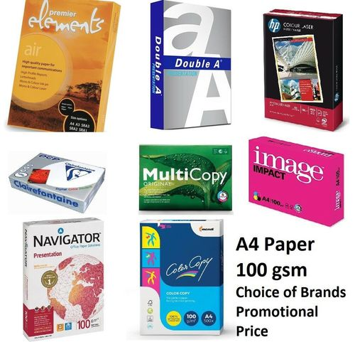 Branded 100GSM A4 Paper