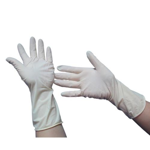 Damp Donning Latex Examination Hand Gloves
