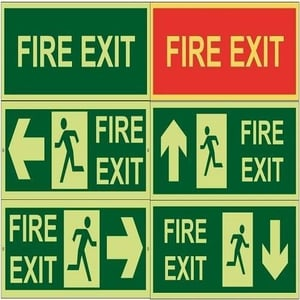 Acrylic Fire Safety Sign